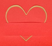 Heart shape paper Stock Photo