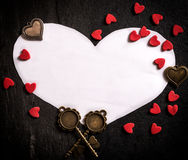 Heart shape paper Royalty Free Stock Photos