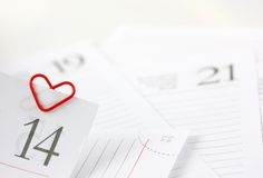 Heart shape paper clip Royalty Free Stock Image