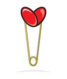 Heart shape paper clip Royalty Free Stock Photo