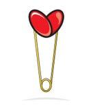 Heart shape paper clip Royalty Free Stock Photo