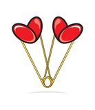 Heart shape paper clips Royalty Free Stock Photo