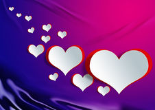 Heart shape on paper craft with egg Royalty Free Stock Photo