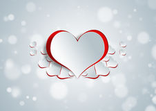 Heart shape on paper craft Stock Images