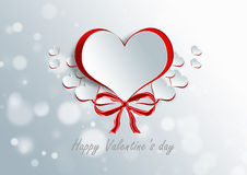 Heart shape on paper craft Royalty Free Stock Photo