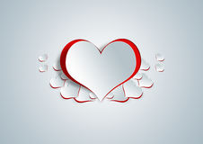 Heart shape on paper craft Royalty Free Stock Photography