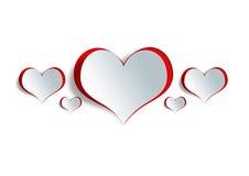 Heart shape on paper craft Stock Photos