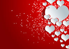 Heart shape on paper craft Stock Photography