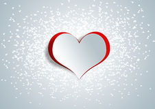 Heart shape on paper craft Stock Photo