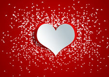 Heart shape on paper craft Royalty Free Stock Image