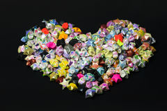 Heart shape of paper folding star Royalty Free Stock Image