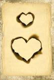 Heart shape parchment Stock Images