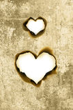 Heart shape parchment Stock Photos