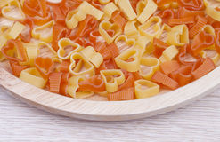 Heart shape Pasta Stock Photo