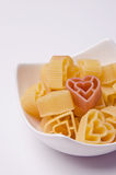 Heart shape pasta Royalty Free Stock Photography