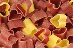 Heart shape pasta Royalty Free Stock Photos