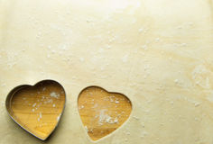 Heart shape pastry Royalty Free Stock Photography