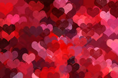 Heart shape pattern abstract illustration Royalty Free Stock Photography