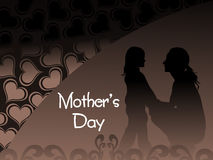 Heart shape pattern with mother day background Royalty Free Stock Photo