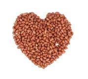 Heart shape of peanuts. Stock Image