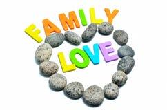 Heart shape pebble stone Royalty Free Stock Images