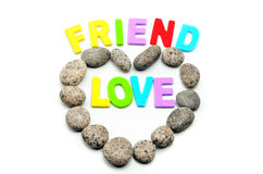 Heart shape pebble stone Stock Photos