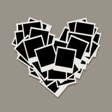 Heart shape, photo frames, insert your photos Royalty Free Stock Photography