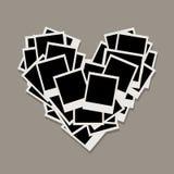 Heart shape, photo frames, insert your photos Royalty Free Stock Photography