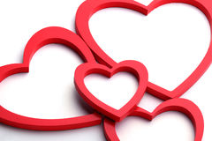 Heart shape picture frame Stock Photos