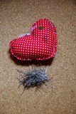 Heart shape. Pillow for brooches in heart shape Stock Images