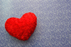 Heart shape pillow Stock Image