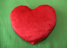 Heart shape pillow Royalty Free Stock Photo