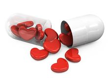 Heart Shape In Pills Stock Image