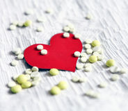 Heart Shape with the Pills Royalty Free Stock Photos