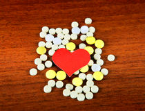 Heart Shape with the Pills Royalty Free Stock Image