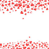 Heart shape pink and red vector Valentines Day Stock Photography