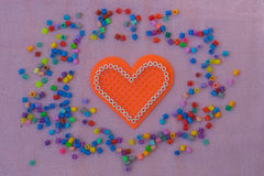 Heart shape pixel art. Royalty Free Stock Photos