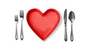 Heart Shape Plate Isolated Royalty Free Stock Image