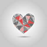 Heart Shape Polygon abstract  Royalty Free Stock Image