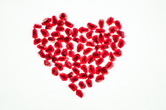 Heart shape  pomegranate seeds Stock Image