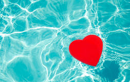 Heart shape in a pool Stock Image