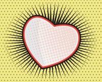 Heart Shape Pop art Comic Book Stock Photos