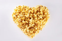 Heart Shape Popcorn Royalty Free Stock Photography
