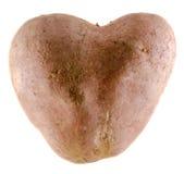 Heart shape potato, close up,  Royalty Free Stock Images