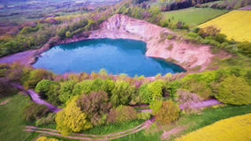 Heart Shape Quarry. Aerial view of a heart shaped quarry Stock Images