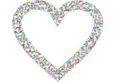 A heart shape in rainbow colors Stock Image