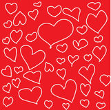 Heart shape with red background Stock Photo