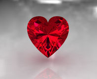 Heart shape red garnet stone Stock Photo