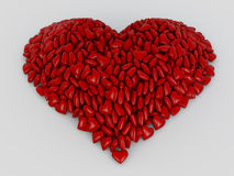 Heart shape from red hearts Royalty Free Stock Photography