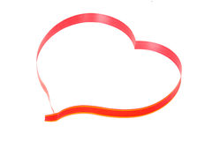 Heart shape of red paper braid Royalty Free Stock Photos